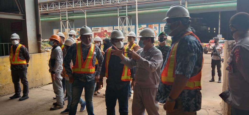 foto: Muhammad Safri saat berkunjung ke PT. VDNI di Konawe, Sulawesi Tenggara